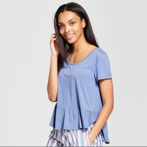 NWT Blue Pajama T-shirt, MEDIUM